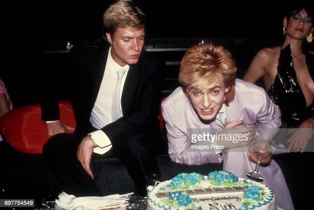 Simon Le Bon and Nick Rhodes circa 1983 in New York City