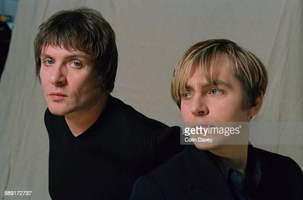 Simon Le Bon and Nick Rhodes of English new wave band Duran Duran 17th November 1998