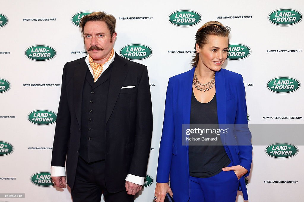 Simon Le Bon and Yasmin Le Bon attend the all-new Range Rover Sport reveal on March 26, 2013 in New York City.