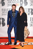 Simon Le Bon and Yasmin Le Bon attend the BRIT Awards 2016 at The O2 Arena on February 24 2016 in London England