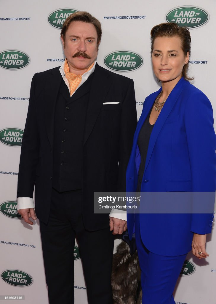 Simon Le Bon and Yasmin Le Bon attend the Range Rover Sport world unveiling at the 2013 New York Auto Show at Skylight at Moynihan Station on March 26, 2013 in New York City.