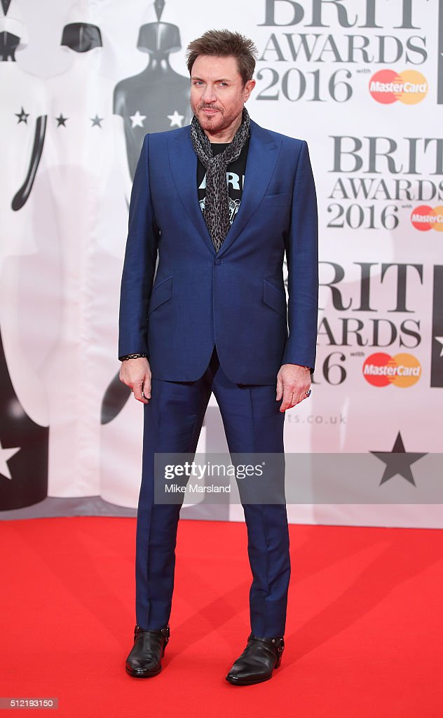 Simon Le Bon attends the BRIT Awards 2016 at The O2 Arena on February 24, 2016 in London, England.