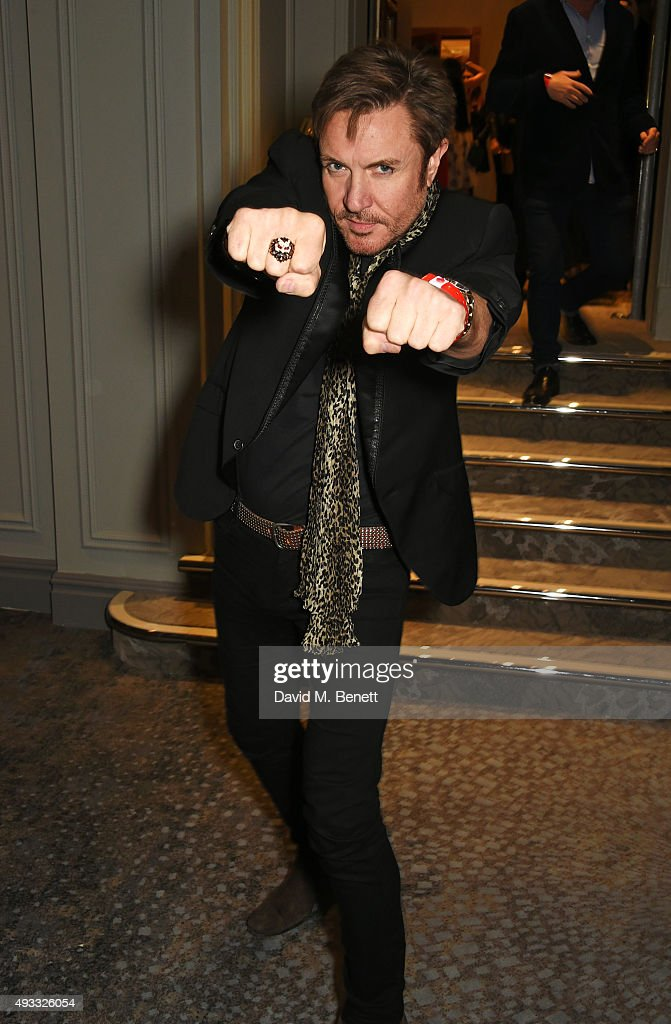 Simon Le Bon attends The Q Awards drinks reception at The Grosvenor House Hotel on October 19, 2015 in London, England.