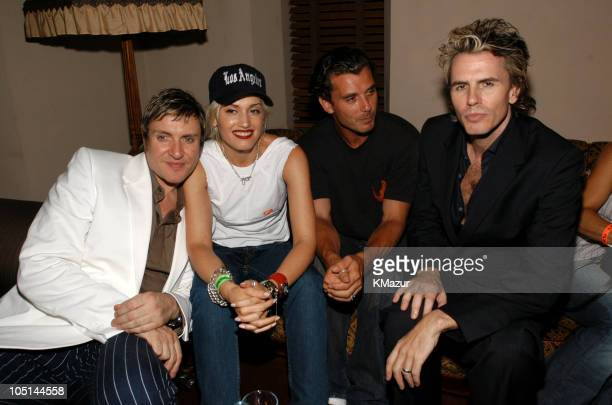 Simon Le Bon Gwen Stefani Gavin Rossdale and John Taylor at the After Party for the Duran Duran Show at The Roxy presented by DKNY Jeans and The FADER
