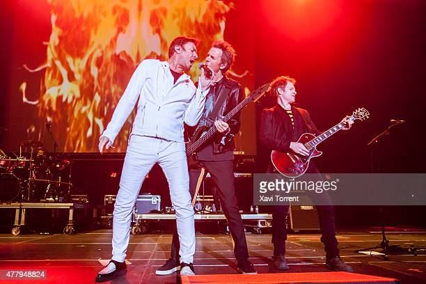 Simon Le Bon John Taylor and Dominic Brown of Duran Duran perform on stage during day 3 of Sonar Music Festival on June 20 2015 in Barcelona Spain