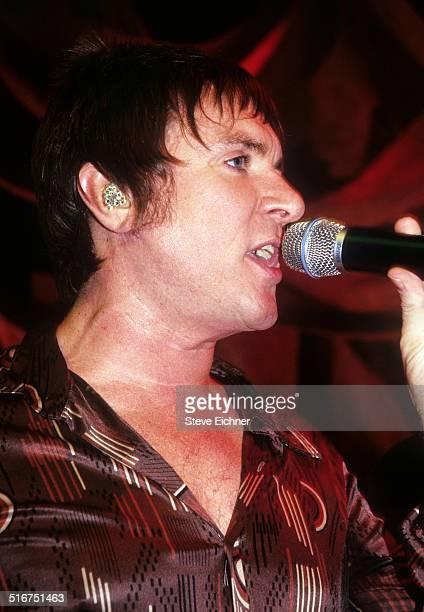 Simon Le Bon of Duran Duran performs at the Juicy Jeans Launch at Joe's Pub New York November 10 1999