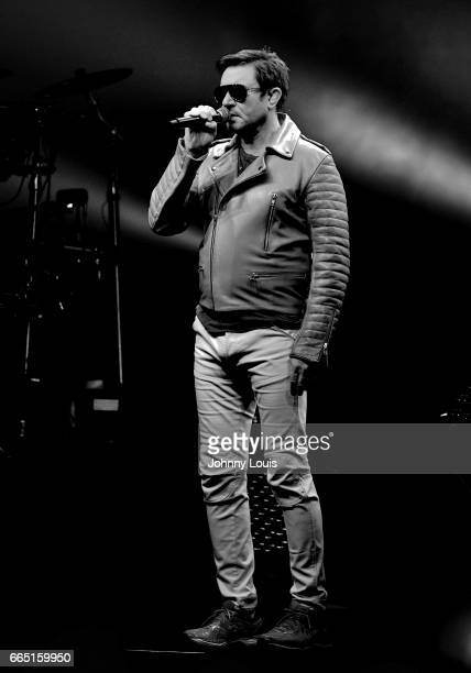 Simon Le Bon of Duran Duran performs on stage at Hard Rock Live at Seminole Hard Rock Hotel Casino Hollywood on April 5 2017 in Hollywood Florida