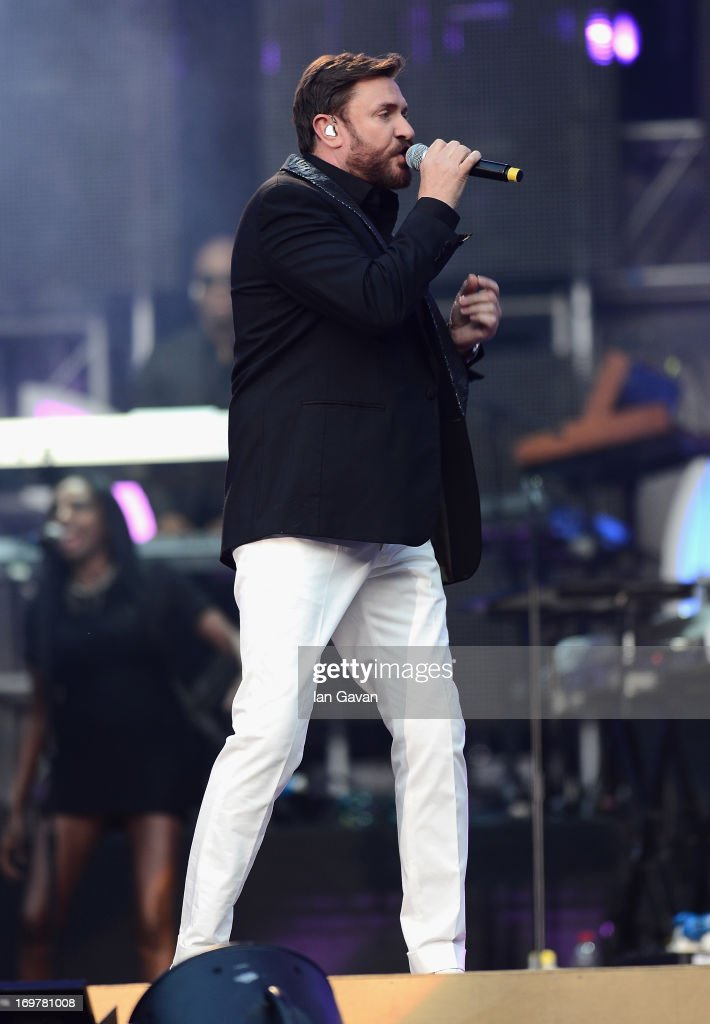 Simon Le Bon performs on stage at the 'Chime For Change: The Sound Of Change Live' Concert at Twickenham Stadium on June 1, 2013 in London, England. Chime For Change is a global campaign for girls' and women's empowerment founded by Gucci with a founding committee comprised of Gucci Creative Director Frida Giannini, Salma Hayek Pinault and Beyonce Knowles-Carter.