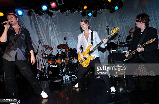 Simon Le Bon Roger Taylor John Taylor Nick Rhodes and Andy Taylor perform live at The Roxy at the Duran Duran show presented by DKNY Jeans and The...