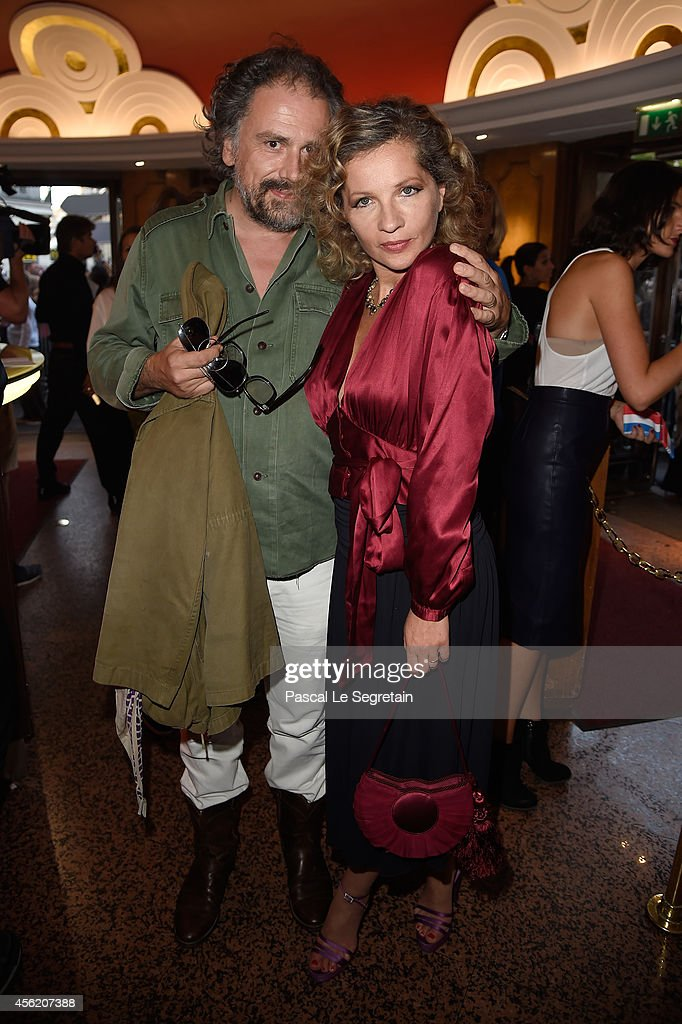 Simon Liberati and Eva Ionesco attend the Jean Paul Gaultier show as part of the Paris Fashion Week Womenswear Spring/Summer 2015 on September 27, 2014 in Paris, France.