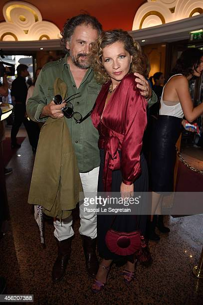 Simon Liberati and Eva Ionesco attend the Jean Paul Gaultier show as part of the Paris Fashion Week Womenswear Spring/Summer 2015 on September 27...