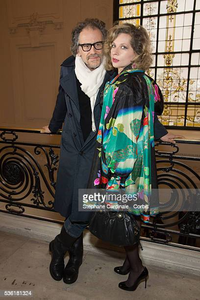 Simon Liberati and Eva Ionesco attend the Jean Paul Gaultier Spring Summer 2016 show as part of Paris Fashion Week on January 27 2016 in Paris France