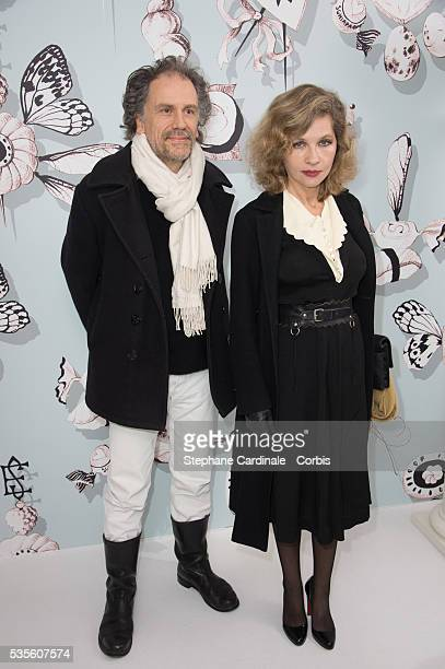 Simon Liberati and Eva Ionesco attend the Schiaparelli Haute Couture SpringSummer 2016 show as part of Paris Fashion Week on January 25 2016 in Paris...