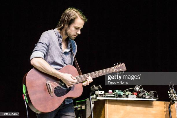 Simon Liddell of Frightened Rabbit performs at The Greek Theatre on May 25 2017 in Los Angeles California