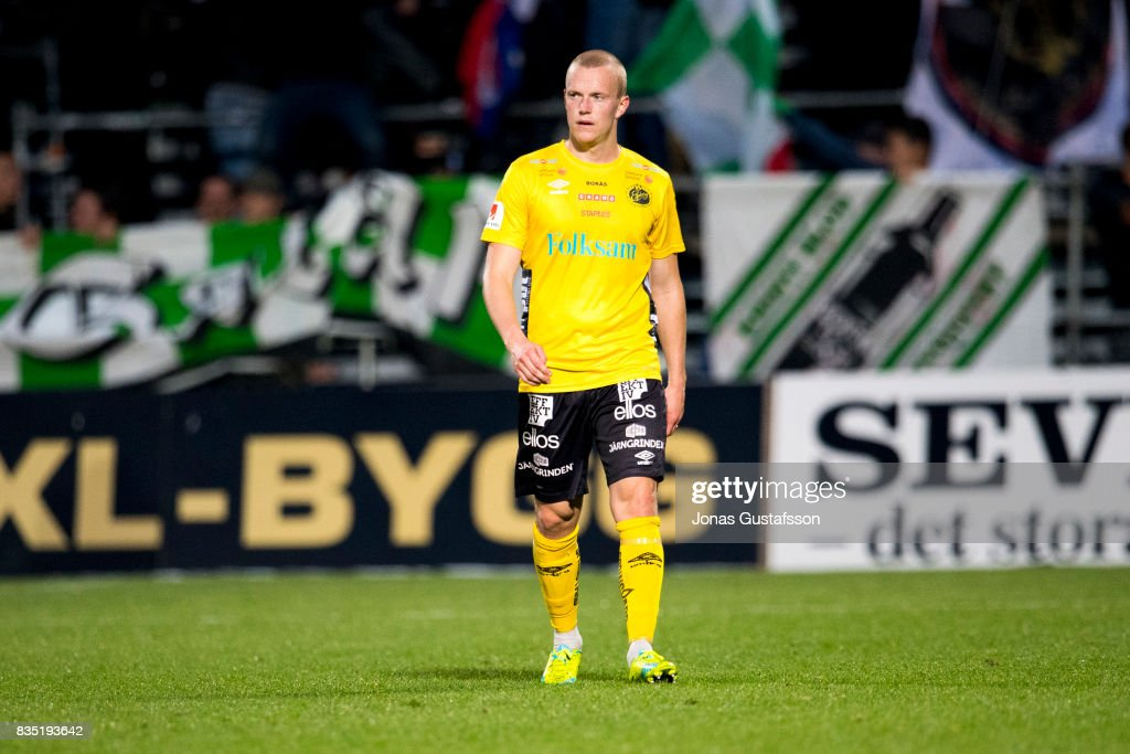 Simon Lundevall of IF Elfsborg dejected during the Allsvenskan match between Jonkopings Sodra IF and IF Elfsborg at Stadsparksvallen on August 18, 2017 in Jonkoping, Sweden.