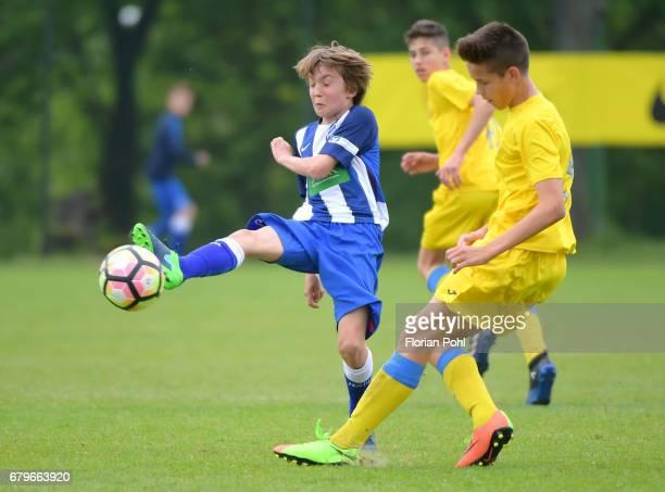 Simon Markl of Hertha BSC U14 during the Nike Premier Cup 2017 on May 6 2017 in Berlin Germany