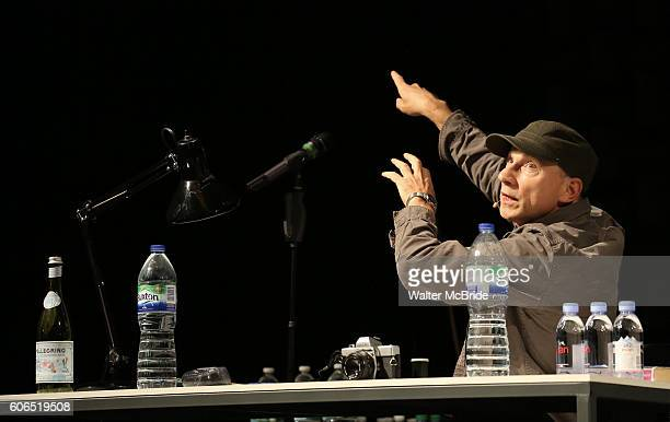 Simon McBurney previews his show 'The Encounter' on Broadway at John Golden Theatre on September 16 2016 in New York City