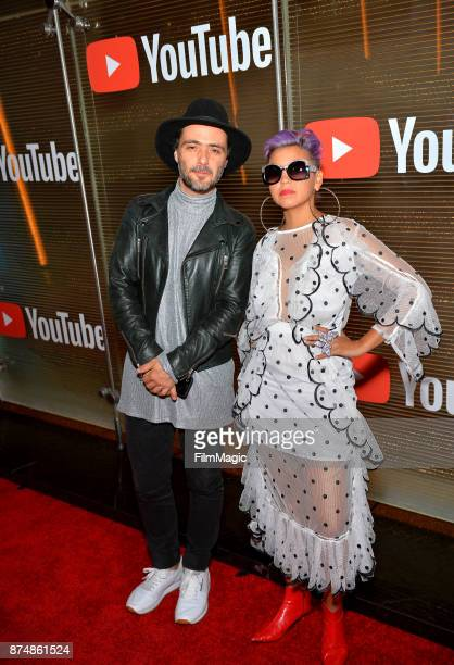 Simon Mejia and Liliana Saumet of Bomba Estereo at YouTube Musica sin fronteras A Celebration of Latin Music at Jewel Nightclub at the Aria Resort...