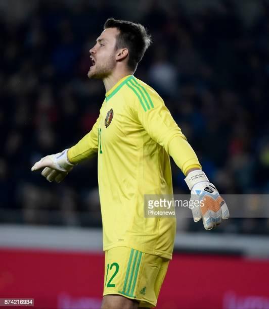 Simon Mignolet goalkeeper of Belgium during the World Cup Friendly Preparation match between Belgium and Japan on November 14 2017 in Brugge Belgium
