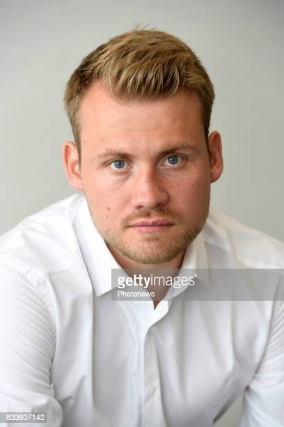 Simon Mignolet goalkeeper of Liverpool FC pictured during photo session on August 09 2017 in Liverpool United Kingdom 9/08/2017