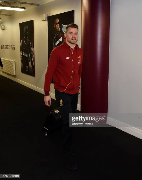 Simon Mignolet of Liverpool arrives before the Premier League match between West Ham United and Liverpool at London Stadium on November 4 2017 in...