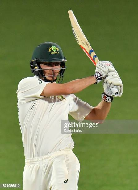 Simon Milenko of CA XI bats during day two of the Four Day Tour match between the Cricket Australia XI and England at Adelaide Oval on November 9...