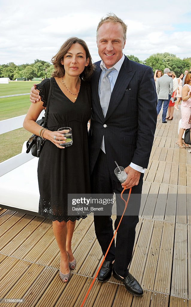 Simon Mills (R) attends day 2 of the Audi Polo Challenge at Coworth Park Polo Club on August 4, 2013 in Ascot, England.