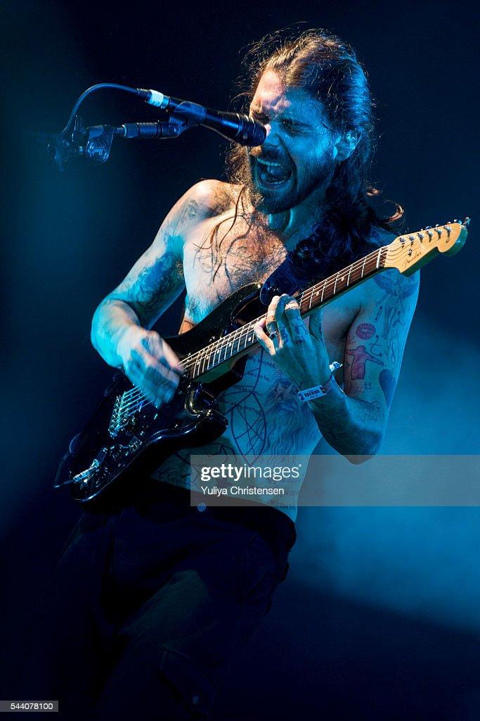 Simon Neil from Biffy Clyro performs at Roskilde Festival on July 1, 2016 in Roskilde, Denmark.