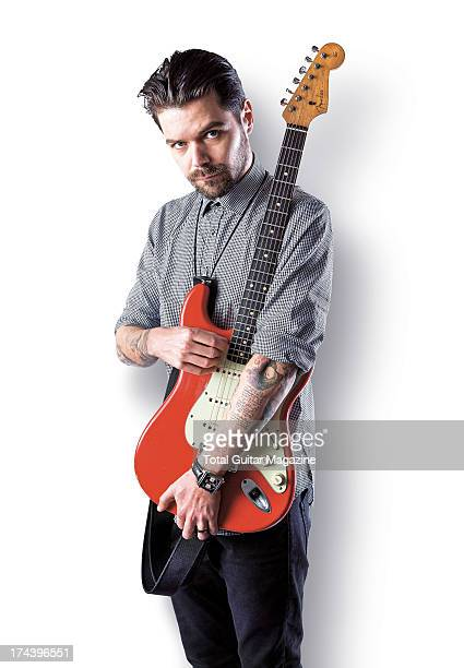Simon Neil lead guitarist and vocalist of Scottish rock band Biffy Clyro photographed during a portrait shoot for Total Guitar Magazine November 21...