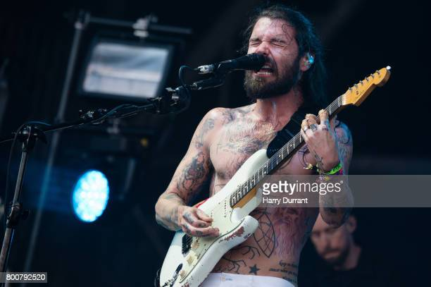 Simon Neil of Biffy Clyro performs on day 4 of the Glastonbury Festival 2017 at Worthy Farm Pilton on June 25 2017 in Glastonbury England