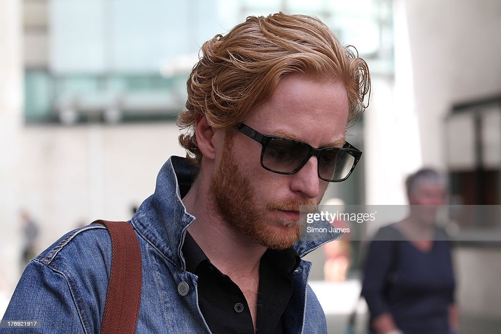 <a gi-track='captionPersonalityLinkClicked' href=/galleries/search?phrase=Simon+Neil&family=editorial&specificpeople=714520 ng-click='$event.stopPropagation()'>Simon Neil</a> of Biffy Clyro sighting at BBC radio one on August 19, 2013 in London, England.