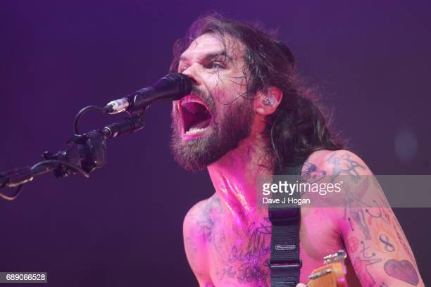 Simon Neil of the band Biffy Clyro attends Day 1 of BBC Radio 1's Big Weekend 2017 at Burton Constable Hall on May 27 2017 in Hull United Kingdom