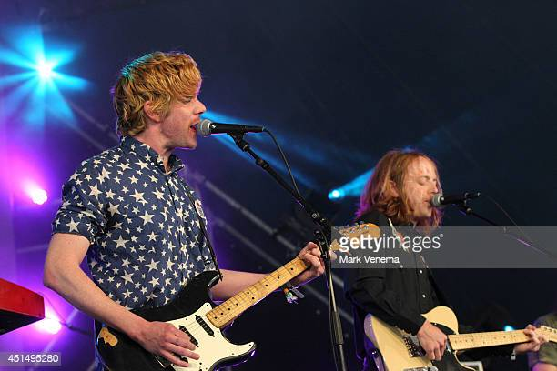 Simon O'Connor and Hank Sullivant of Kuroma perform at Day 3 of Down The Rabbit Hole Festival at De Groene Heuvels on June 29 2014 in Beuningen...