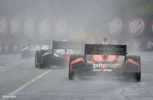 Simon Pagenaud of France driver of the Schmidt Peterson Hamilton Motorsports Dallara Honda during race 2 of the Verizon IndyCar Series Honda Indy...
