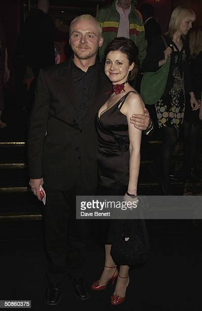 Simon Pegg and his girlfriend attend the UK Premiere of 'Shaun of the Dead' at The Vue in Leicester Square followed by the party at the Atlantic Bar...