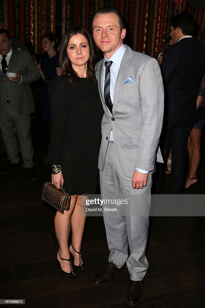 <a gi-track='captionPersonalityLinkClicked' href=/galleries/search?phrase=Simon+Pegg&family=editorial&specificpeople=206280 ng-click='$event.stopPropagation()'>Simon Pegg</a> and his wife Maureen McCann attend the UK Premiere - After Party of 'Star Trek Into Darkness' at Aqua on May 2, 2013 in London, England.