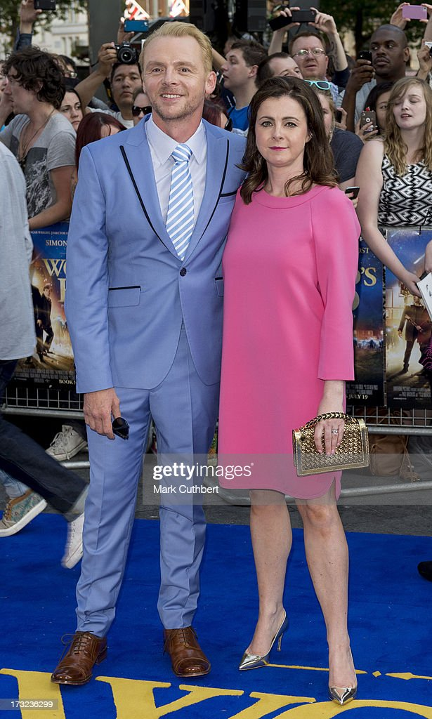 Simon Pegg and Maureen McCann attend the World Premiere of 'The World's End' at Empire Leicester Square on July 10, 2013 in London, England.