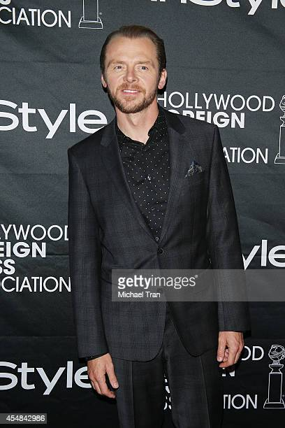 Simon Pegg arrives at the HFPA InStyle's 2014 TIFF Celebration held during the 2014 Toronto International Film Festival on September 6 2014 in...