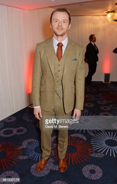 Simon Pegg arrives at the Jameson Empire Awards 2014 at The Grosvenor House Hotel on March 30 2014 in London England