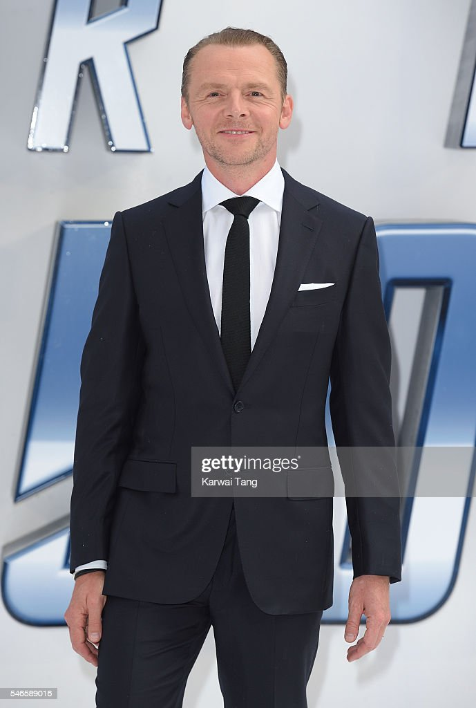 Simon Pegg arrives for the UK premiere of 'Star Trek Beyond' on July 12 2016 in London United Kingdom