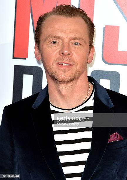Simon Pegg attends an exclusive screening of 'Mission Impossible Rogue Nation' at BFI IMAX on July 25 2015 in London England
