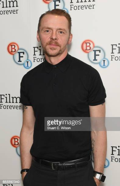 Simon Pegg attends the BFI Screen Epiphany of 'Raising Arizona' at the National Film Theatre on March 14 2017 in London United Kingdom