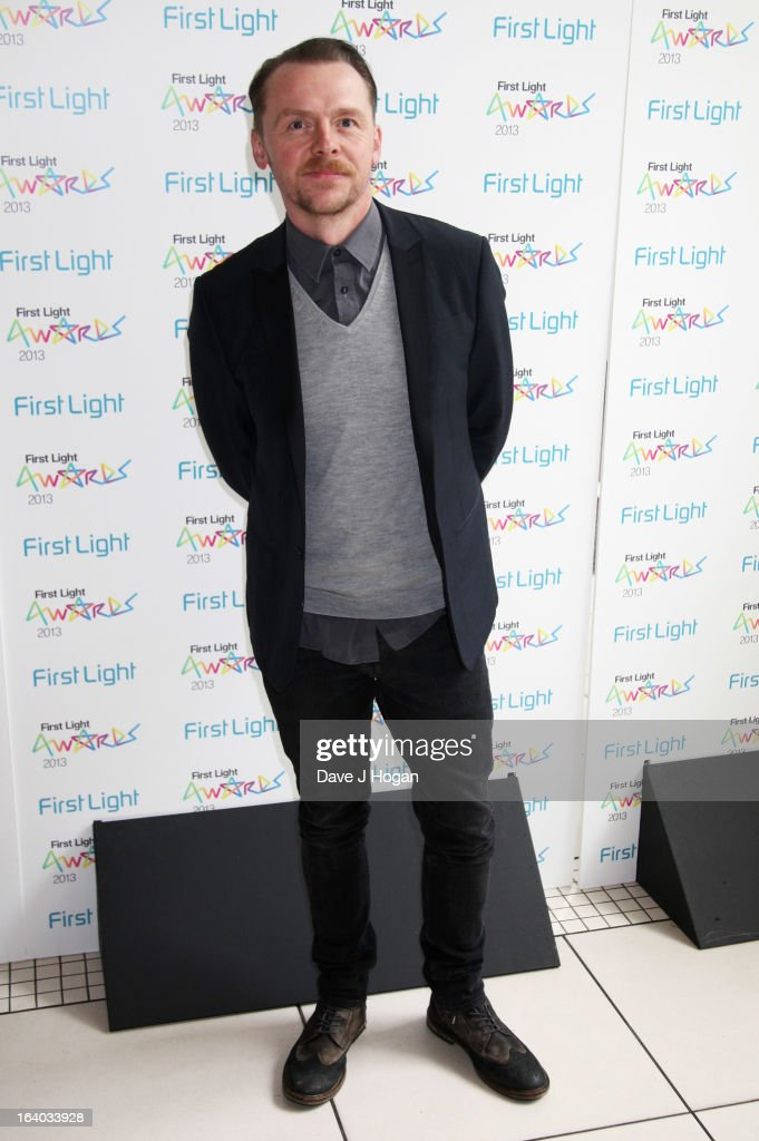 Simon Pegg attends the First Light Awards 2013 at The Odeon Leicester Square on March 19, 2013 in London, England.
