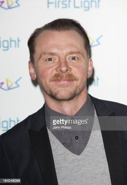 Simon Pegg attends the First Light Awards at Odeon Leicester Square on March 19 2013 in London England