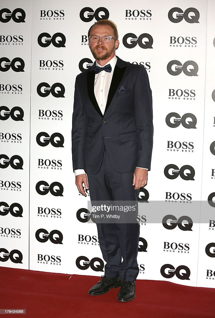 Simon Pegg attends the GQ Men of the Year awards at The Royal Opera House on September 3, 2013 in London, England.