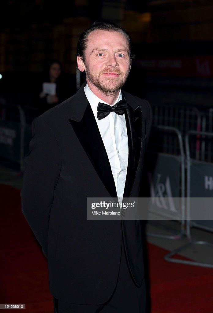 <a gi-track='captionPersonalityLinkClicked' href=/galleries/search?phrase=Simon+Pegg&family=editorial&specificpeople=206280 ng-click='$event.stopPropagation()'>Simon Pegg</a> attends the Hollywood Costume gala dinner at Victoria & Albert Museum on October 16, 2012 in London, England.