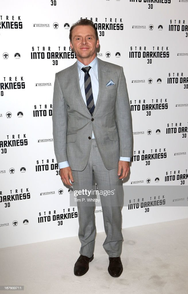 Simon Pegg attends the IMAX 3D Premiere of 'Star Trek Into Darkness' at BFI IMAX on May 2, 2013 in London, England.>>