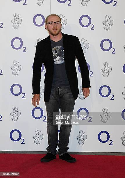 Simon Pegg attends the O2 Silver Clef Lunch at the Park Lane Hilton on July 4 2008 in London England