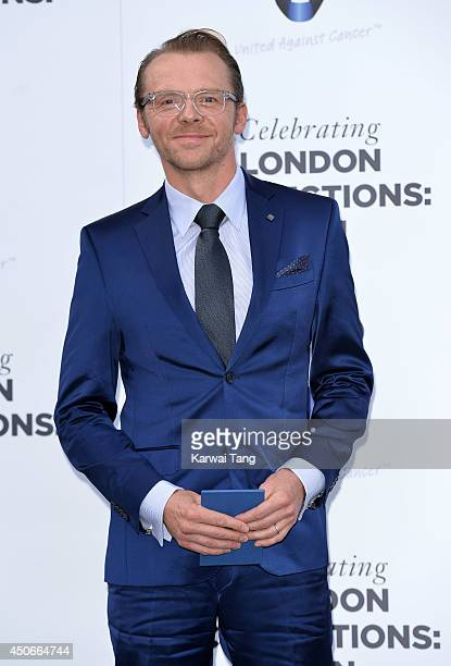 Simon Pegg attends the One For The Boys charity ball during the London Collections Men SS15 on June 15 2014 in London England
