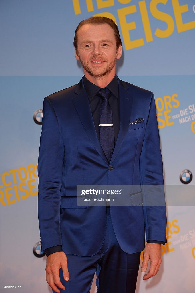 <a gi-track='captionPersonalityLinkClicked' href=/galleries/search?phrase=Simon+Pegg&family=editorial&specificpeople=206280 ng-click='$event.stopPropagation()'>Simon Pegg</a> attends the premiere of the film 'Hector and the Search for Happiness' (German title: 'Hectors Reise') at Zoo Palast on August 5, 2014 in Berlin, Germany.
